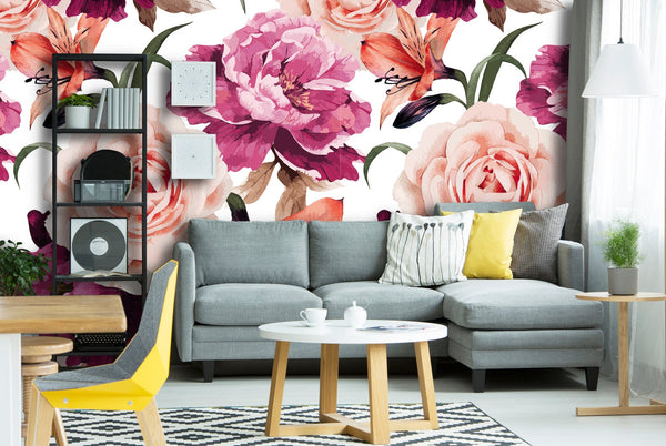 Roses Floral Removable Wallpaper