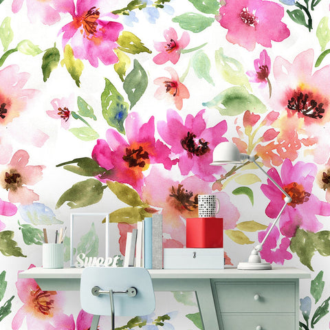 Meadow Flowers Removable Wallpaper