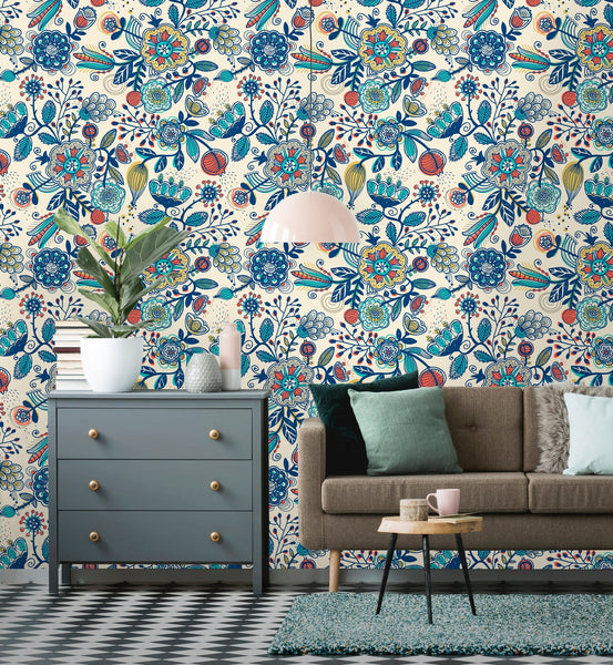 Boho Leaves Removable Wallpaper