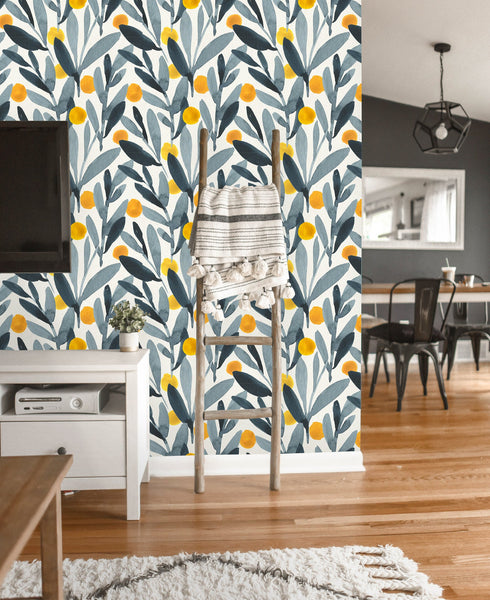 Watercolor Leaves Removable Wallpaper