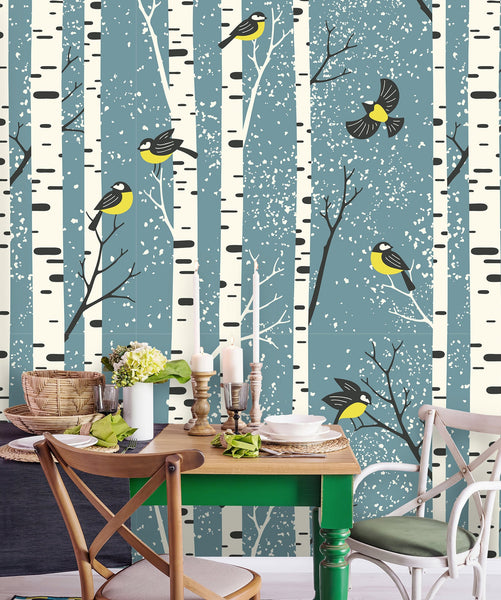 Birch Trees Removable Wallpaper