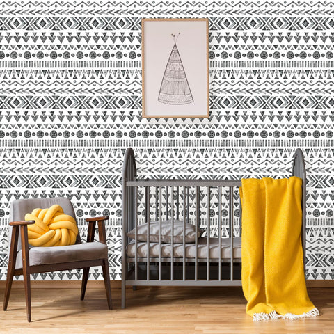 Boho Geometric Peel and Stick Removable Wallpaper