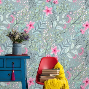 Floral Mural Removable Wallpaper