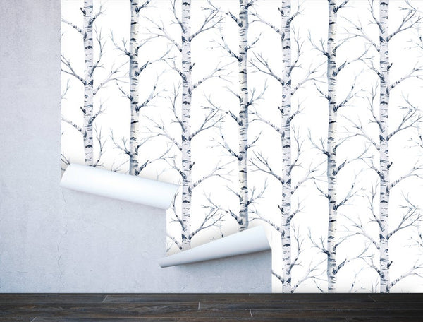 Birch Tree Forest Removable Wallpaper