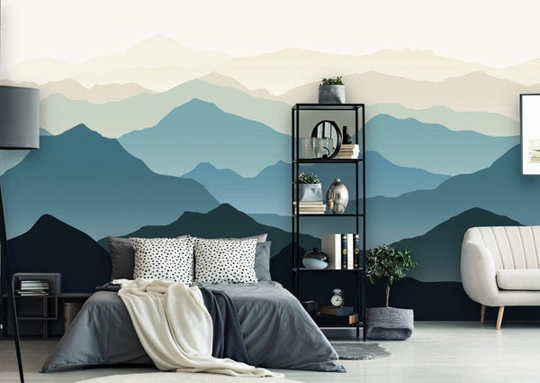 Blue Mountains Landscape Removable Mural/Wallpaper
