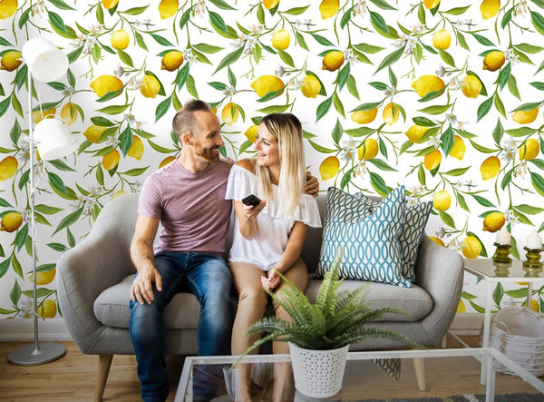 Tropical Lemon Removable Wallpaper