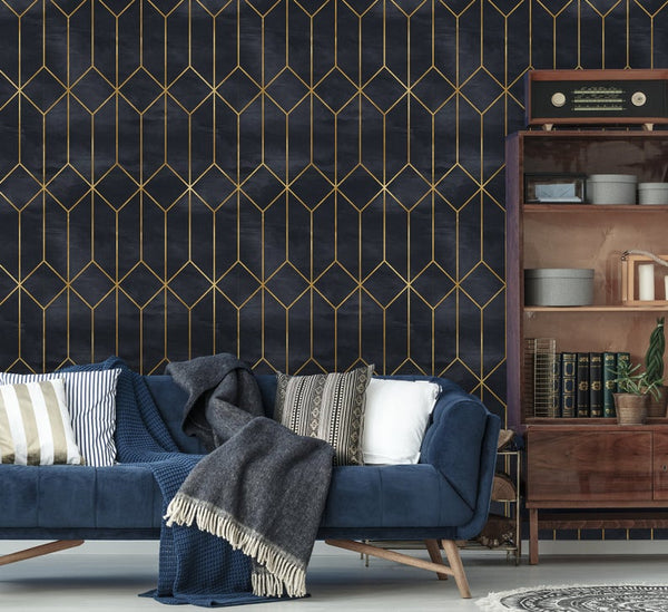 Art Deco Geometric Vintage Removable Wallpaper