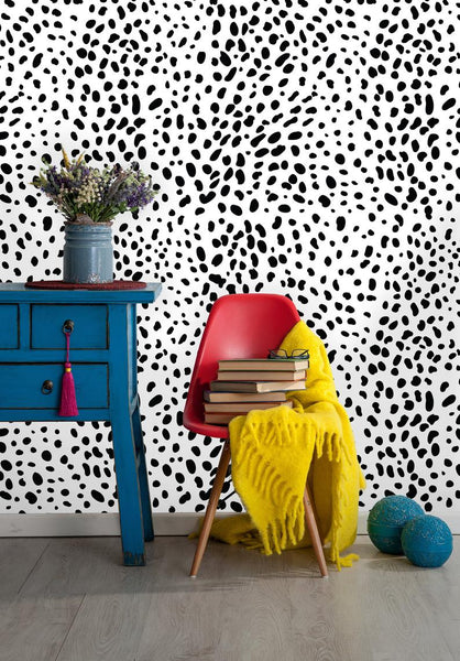 Leopard Dalmatian Removable Wallpaper