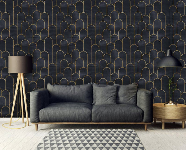 Art Deco Geometric Removable Wallpaper