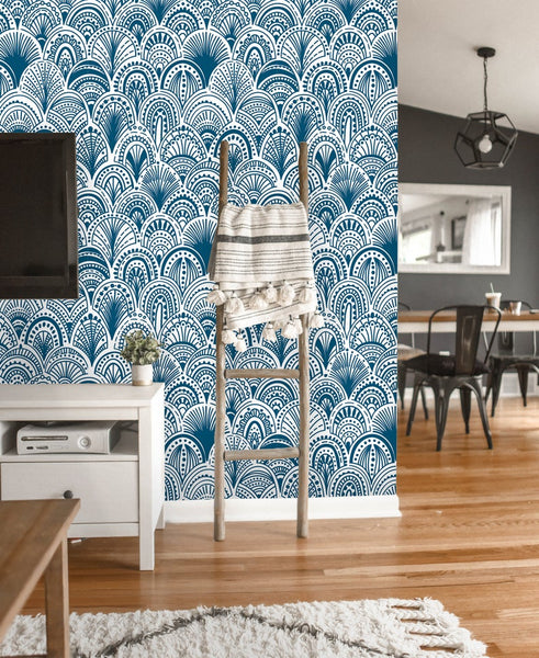 Classic Vintage Ornamental Removable Wallpaper
