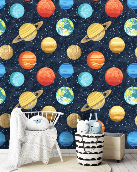 Solar System Planets Removable Wallpaper