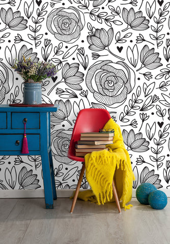 Floral Botanical Removable Wallpaper