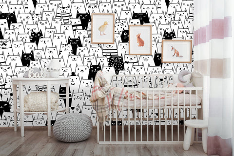 Animal Kids Room Removable Wallpaper