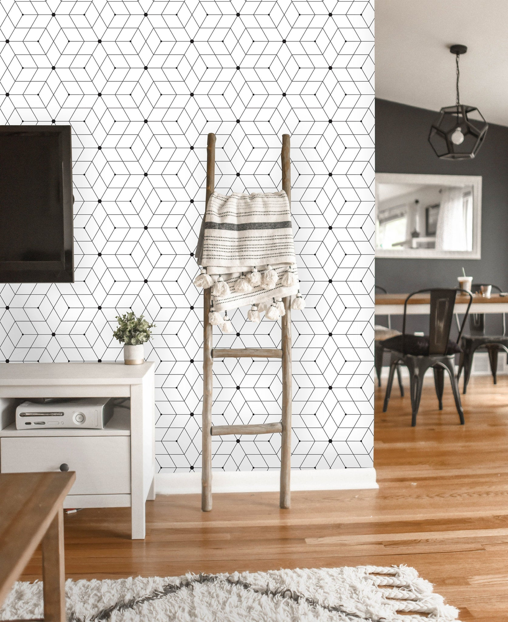Self Adhesive Modern Geometric Removable Wallpaper