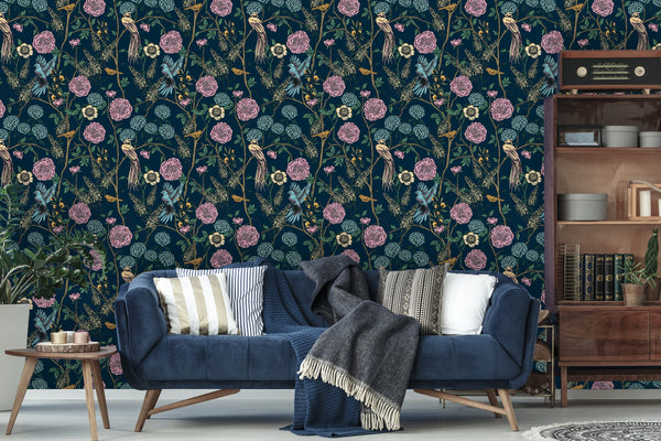 Tropical Birds Removable Wallpaper