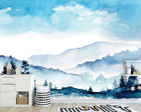Mountains Removable Mural/Wallpaper