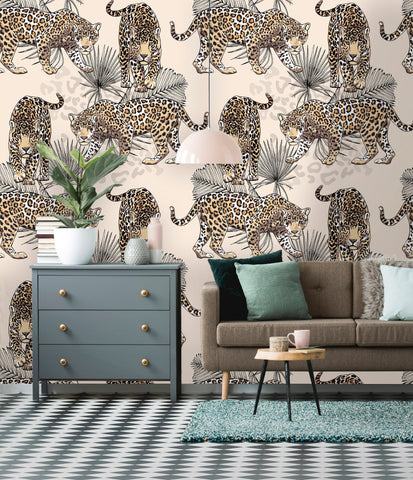 Wild Leopards Removable Wallpaper