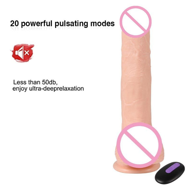 Vibrator Dildo Thrusting Stimulator Realistic Pulsator Dildo Automatic G spot Vibrator with Suction Cup for Women and Couple