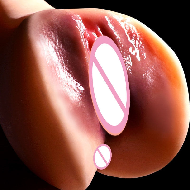 Super Realistic Vagina Pussy Masturbator Pocket Pussy Artificial Vagina Male Masturbator Cup Double Channel Sex Toys For Men