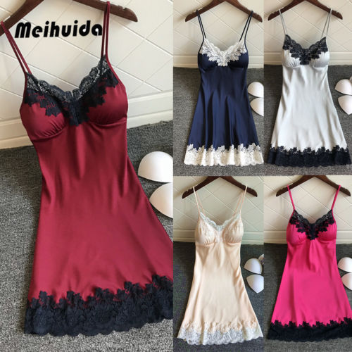 Hot Women Sexy Lingerie Silk Robe Dress Lace Up Babydoll Nightgown Sexy Sleepwear Nightdresses