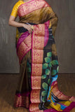 Multi Colored Traditional Silk Saree With Blouse For Women - CD621