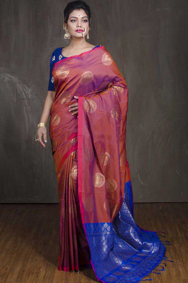 Gorgeous Multi Colored Silk Base Saree