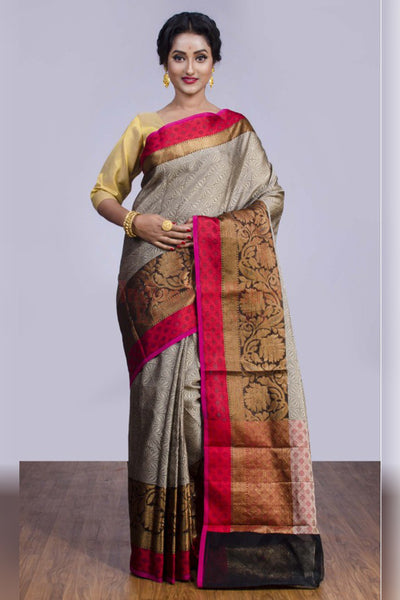 Beautiful Multicoloured Understated Soft Silk Saree