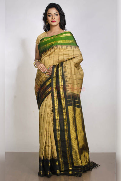 Refreshing Green Hued Multicolour Soft Silk Saree