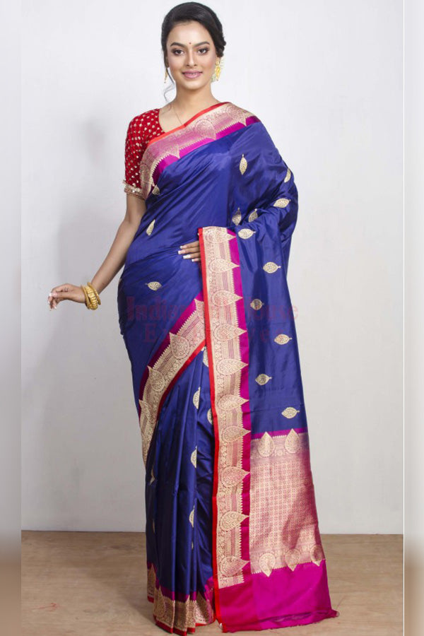 Subtly Bright Multicoloured Soft Silk Saree
