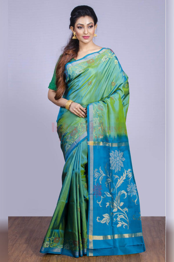 Shades of the Ocean Soft Silk Saree