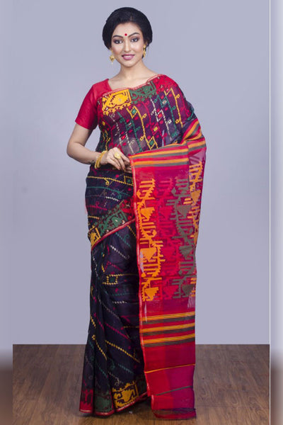 Multicoloured and Printed Soft Silk Saree