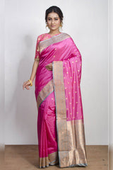 Prettiest Pink Soft Silk Saree