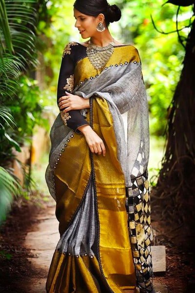 Earthy and Rich Multicolour Soft Silk Saree