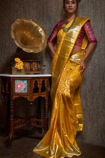 Festive Perfect Yellow Soft Silk Saree