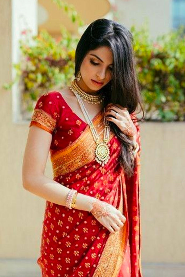 Regal Red Soft Silk Saree