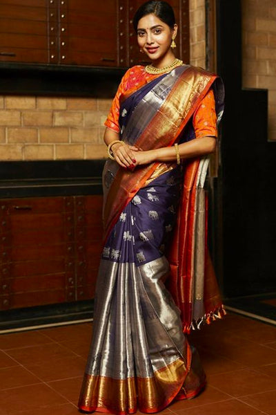 Enchanting Multicoloured Soft Silk Saree