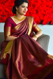 Wedding Perfect Maroon Soft Silk Saree