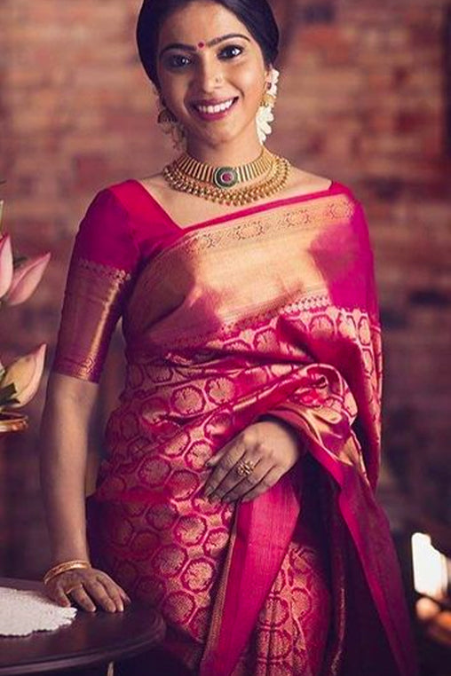 Pretty in Pink Soft Silk Saree