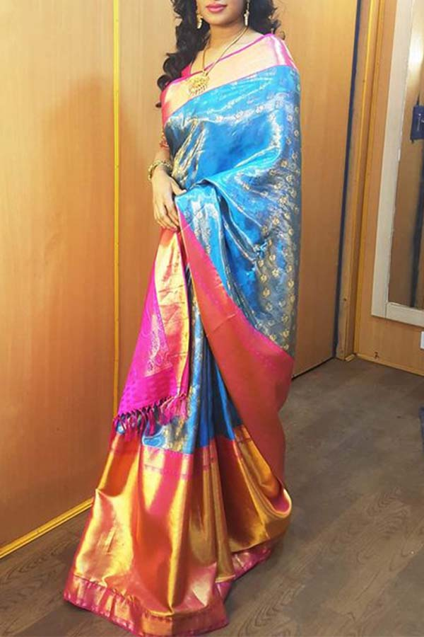 Subtly Elegant Multicolor Soft Silk Saree