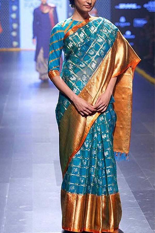 Enchanting Blue Soft Silk Saree - SS73