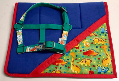 Dinosaur Saddlecloth Set