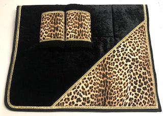 'Limited Edition' Leopard Print Saddlecloth Set