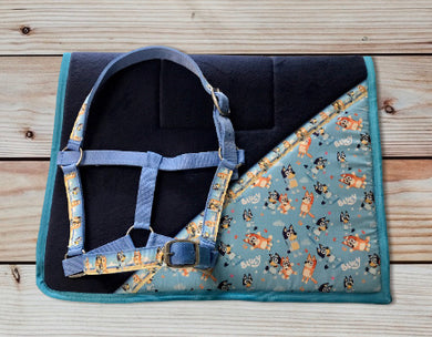 Bluey Saddlecloth Set