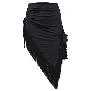 2071B - Ladies Latin Dance Skirt in Black