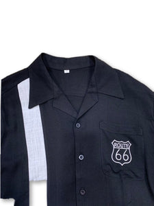 R66 - Route 66 Bamboo Cotton Men's 1950s and 1960s Bowling Shirt