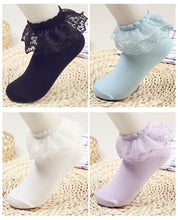 Load image into Gallery viewer, BS - Ladies Frilly Bobby Socks