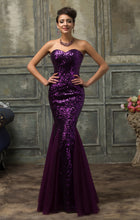 Load image into Gallery viewer, CL007556 - Ladies Long Sequence Formal Wear in Purple