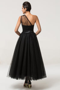 CL007561 - Ladies Long Formal Dress in Black