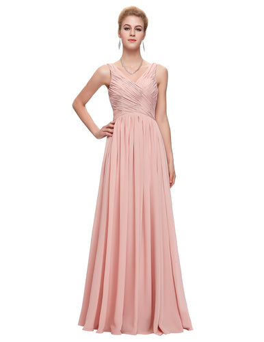 CL6010 - Ladies Long Formal Wear in Pink