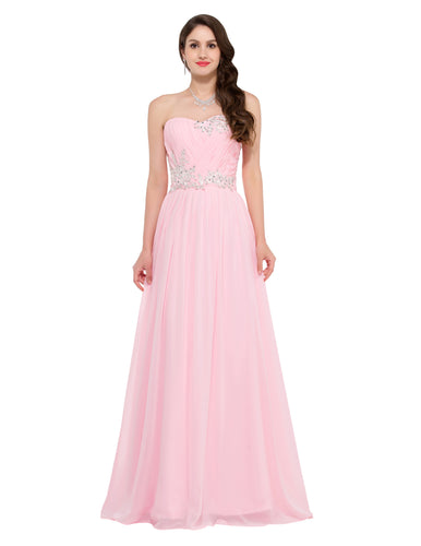 CL6107 - Ladies Long Strapless Formal Wear